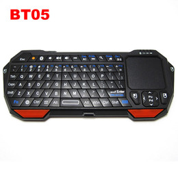 Wholesale Bluetooth Keyboard Ios - Mini Wireless Bluetooth 3.0 Keyboard Fly Air Mouse With Touchpad BT05 for Windows iOS Android TV Box IPTV 20pcs Free DHL Shipping
