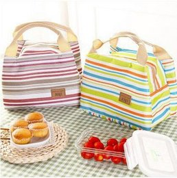 Wholesale Organic Cotton Canvas Wholesale - Insulated Tote Lunch Bag Box Cool Canvas Thermal Handbag Portable Travel Camping Outdoor Picnic Kit Container Organizer Dinnerware
