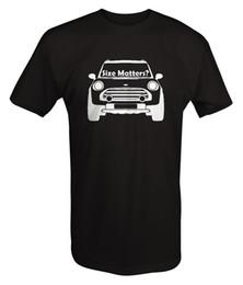 Wholesale Free Mini Cooper - Mini Cooper - Size Matters - Front Funny Racinger T Shirt T-Shirt Fashiont Shirt Free Shipping