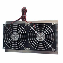 Wholesale Fan Module - Wholesale- NEW Electronic Semiconductor Refrigeration Air Conditioning Dual-Core Semiconductor Refrigeration Chip Modules