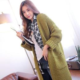 Wholesale Extra Long Coats Women - Wholesale-2016 Autumn Winter Fashion Long Knitting Sweater Summer Style Causal Long Cardigan Long Sleeve V-Neck Sweater Coat WT10001