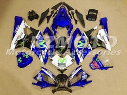 Wholesale Plastic R6 - New Injection ABS Fairings For Yamaha YZF600 R6 Year 06 07 2006 2007 ABS Plastics Motorcycle Fairing Kit Bodywork Cowling movistar 99