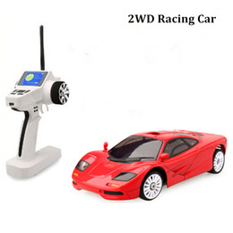 Wholesale Toy Electric Train Cars - 2016 Brinquedos Train Juguetes 1 Piece Mclaren Model Rc Cars Four Colors Electric Racing 2wd Remote Control Car Hot Sale Toys for Kids Gift