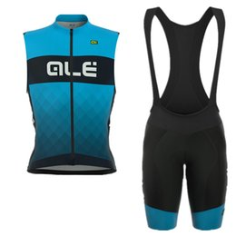 Wholesale Mens Cycling Vest Xl - ALE Pro Mens sleeveless vest set Cycling Jersey Summer Quick-Dry Bike Clothing Bicycle Clothes Sportwear E1001