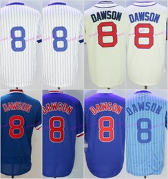 Wholesale Yellow Baby Shorts - Throwback 8 Andre Dawson Jersey Chicago Andre Dawson Baseball Jerseys Cooperstown Pinstripe White 1978 Baby Blue Pullover Grey Beige