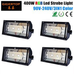 Wholesale Light Effect Flash - Cheap Price 4 Pack 400W RGB Strobe Light 100V-220V Mini DJ Strobe Light 3IN1 Flash Light Disco Club Party Stage Effect Lighting