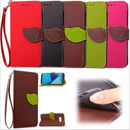 lg g4 leather case Promo Codes - luxury wallet phone case for iphone7 iphone 7 6 6s plus galaxy S8 s5 s7 note 4 G4 leather pouch TPU cover case leaf design DHL free GSZ294