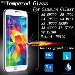 Wholesale S3 Mini Protective Covers - Wholesale-Tempered Glass Screen Protector for Samsung Galaxy Grand Prime S6 J5 S4 S3 Mini A3 J7 S2 Note 4 Protective Film Cover Protection