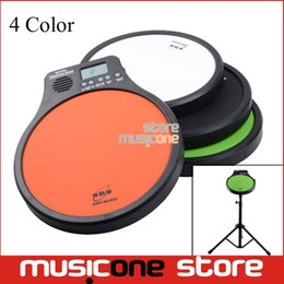 Wholesale Practice Drum Pad Electronic - Wholesale- ENO Digital Drumming Practice Drum Pad With Metronome 3 in 1 For Drummer Black Metronomer Electronic Practise Pad