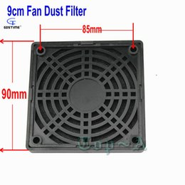 Wholesale Case Fan Cover - Wholesale- Free Shipping 9CM 90mm Fan Filters Black Plastic Dust Network Cooling Fan Dedicated Grille Cover