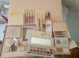 Wholesale Makeup Palette Mix - New Kylie Jenner I WANT IT ALL The Birthday Collection Makeup Set Eyeshadow Palette Charming Lip Gloss August Bug Kylie Collection Set gift