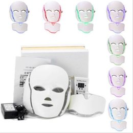 Wholesale Photon Device - 2017 best selling 7 colors photon PDT led skin care facial mask mini home salon portable led therapy beauty devices face neck mask