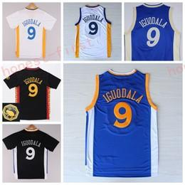Wholesale Away Fashion - Hot Sale 9 Andre Iguodala Jersey Shirt Christmas Chinese Andre Iguodala Uniforms Fashion Home Road Away Blue White Black with sleeve