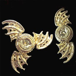 Wholesale Big Two Game - Golden Dragon Eyes Fidget Spinner Toy Game of Thrones Hand Spinner Two Three Wings EDC Finger Toys Reduce Stress for Autism and ADHD