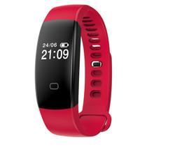 notification bluetooth Promotion Bluetooth Smartband F08HR avec moniteur de fréquence cardiaque 24H appels entrants appels SMS notification rappel de vibration bracelet étanche Bracelet F08