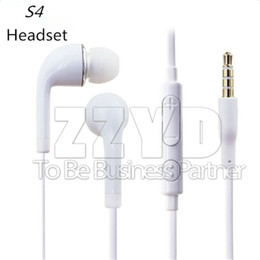 Wholesale Dj Ear - J5 3.5mm In-Ear Earphone Music Dj S4 Headset with MIC & Volume Control headphone for Samsung Galaxy S4 S5 S6 with retail package