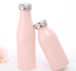 termo para niños botella de agua Rebajas 2018 NUEVA CALIENTE Botella de Leche Botella de Leche de Agua Inoxidable Aislada Al Vacío con Termo 500 ml Botellas de Leche escuela de verano regalo de los estudiantes de estudiantes