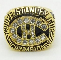 Wholesale League Championship Ring - Free Shipping 1986 National NHL Hockey League Montreal Canadiens Championship Ring souvenir Sport Fan Men Gift wholesale Factory