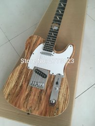 Wholesale Original Painting Handmade - High quality electric guitar elm landscape painting Leather Handmade custom EMS delivery can be customized LOGO