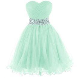 Vestidos de fiesta verde menta cortos
