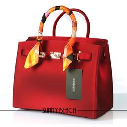 Bolsos de silicona online-SUNNY BEACH nuevo lujo atte mujer bolsas diseñador damas mujeres bolso famoso PVC silicona jalea bolsos