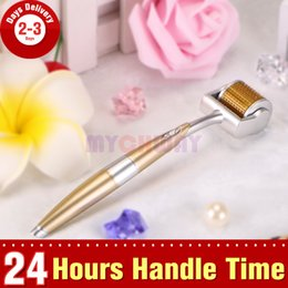 Wholesale Titanium Micro Needle Acne Roller - 0.5mm 1.0mm 1.5mm 2.0mm Titanium 192 Needle Micro Needle Derma Roller Acne Wrinkle Removal Anti-age Skin Care