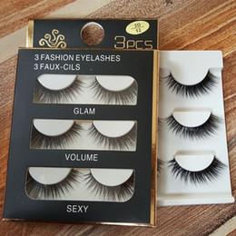 Wholesale Nature Soft - 3D mink hair false eyelashes Handmade Beauty Nature Long Soft Mink lashes Fake Eye Lashes Eyelash Extension