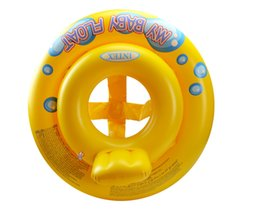 Wholesale Inflatable Baby Ring Seat - Inflatable Float Swim Ring Baby Summer Cartoon Swimming Seat Toddler Water Beach Bath Toys Fashion Yellow New