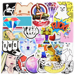 Wholesale Movie Stickers - Diy stickers posters wall stickers for kids rooms home decor sticker on laptop skateboard luggage wall decals car sticker 100pcs