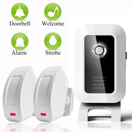 Wholesale Doorbell Home Door - Welcome device Shop Store Home Welcome Chime Wireless Infrared IR Motion Sensor Door bell Alarm Entry Doorbell Reach 150m