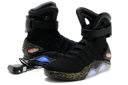 Wholesale Mag Shoes - With Box Air Mag Men Limited Edition Back To The Future Mags Mens Basketball Shoes With LED Lights High Top Sport Sneakers