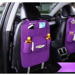 Wholesale Backseat Organizer - Felt Multifunction Hanging Organizer Car Sundries Holder Multi-Pocket Travel Storage Bag Hanger Backseat Organizing Box