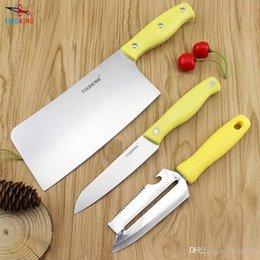 Wholesale Ceramic Cleaver Knife - D110 FINDKING Super black blade 3pcs set Gift Set 4 inch+5 inch+peeler+covers Ceramic Knife Sets Kitchen Knife kitchen tools
