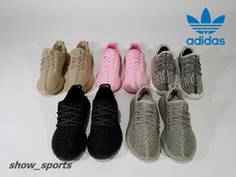 Wholesale Pink Turtle - Kids Adidas Yeezy Boost 350 Turtle Dove Pirate Black Moonrock Oxford Tan Pink Boy Girls Running Shoes Children Kanye West Yezzy 350 Yeezys