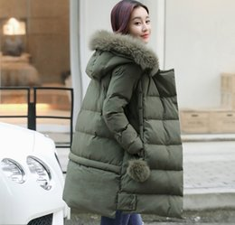 Wholesale Womens Cotton Parka Coat - 2016 New Long Parkas Female Women Winter Coat Thickening Cotton Winter Jacket Womens Outwear Parkas for Women Winter Outwear