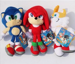 "Wholesale Echidna Plush - New Arrival Sonic the hedgehog Sonic Tails Knuckles the Echidna Stuffed Plush Toys With Tag 9""22cm Free Shippng"