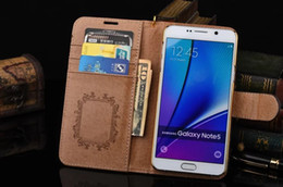 Wholesale Galaxy Pocket Covers - Brand Luxury Leather Wallet case for iPhone 8 7 6 6S Plus 5S SE 5C Cover for Samsung Galaxy S8 Plus S7 S6 Edge Note8 5 4 3 Stand Card Holder