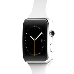 Wholesale Remote Iphone Support - 2017 New E-MI Bluetooth Smart Watch X6 Smartwatch sport watch For Apple iPhone Android Phone With Camera Support SIM Card P130