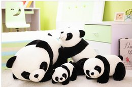 Wholesale Panda Birthday - Cute plush cartoon Panda Cushion Kid Pillow Baby StuffedToys For Living Room Bed Sofa Home Decorative Children birthday Gift