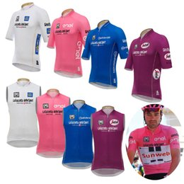 Wholesale Maillot Cycling - 2017 Pro Team Cycling sleeveless Jerseys summer style mtb bicycle Maillot ropa Ciclismo Cycling vest Tour De Italy 100 year men Bicicleta