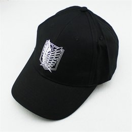 Wholesale K Pop Fashion - Wholesale- K-pop Hat Attack on Titan Wing Album 2016 New Fashion Classic Black Baseball Cap Hip-hop Cap Men Women KPOP P8076