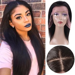 Wholesale Full Base - Straight Silk Base Lace Front Wigs Adjustable Pre Plucked 360 Full Lace Human Hair Wigs Glueless Wig for Black Women with Baby Hair Natural
