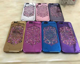 Wholesale Glitter Stylus - For iphone 7 7Plus Samsung S8 S8plus J7 C7 LG K10 stylus V20 ZTE V6 SONY XA Bling Bling electroplat Transparent TPU Water Glitter Soft Case