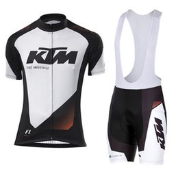 Wholesale Ktm Short - 2017 KTM Cycling clothing and Cycling Bib Shorts Kits Breathable Bike Clothes Ropa Ciclismo Bike Jerseys Sportswear Free shipping