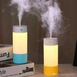 Argentina Lo nuevo USB Mini Ultrasónico Mudo Cilindro Perfume Máquina LED Humidificador de Luz Nocturna de Calidad Superior Regalos de Empresa Creativo Pequeño Humidificador Suministro