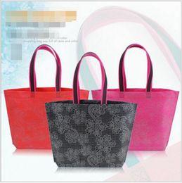 Wholesale Custom Women Clothing - Shunvbasha Casual Handbags Open Simple Style Custom Clothing Shopping Non-woven No Zipper Floral Handbags for Women