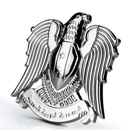 Wholesale Eagles Car Stickers - Eagle Hawk Prestige Falcon Fashion 100% 3D Metal Car Auto Motorcycle Logo Totem Emblem Badge Sticker DIY Gold Silver Car-Styling