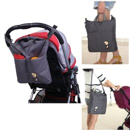 Wholesale Bebe Diaper Bags - Baby Stroller Bag Large Diaper Bag Hobos Cart Basket For Mom Brand Baby Travel Nappy Handbags Bebe Organizer Waterproof Portable