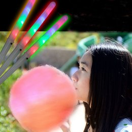Wholesale glow products wholesale - LED multicolor glow stick for cotton candy christmas product LED Party Flashing Rainbow Stick Floss LED party lights S201738