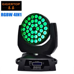 Wholesale Dj Lights Moving Head Wash - Low Noise 36*10W 4IN1 Zoom Led Moving Head Light RGBW DMX 512 KTV Led Moving Head wash beam effect AC110V-240V dj ktv club TP-L620A